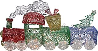 Northlight 3 Piece Glittering Lighted Christmas Train with Present and Tree Yard Decor 55