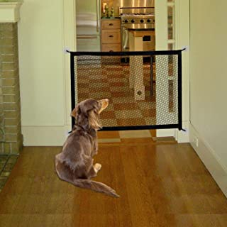 MOO&NOO Magic Gate for Dogs|Portable Pet Safety Mesh Gate |Suits Width Between 34