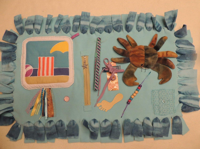 Fidget Blanket Quilt for theme Dementia shipfree Patients-Beach New mail order