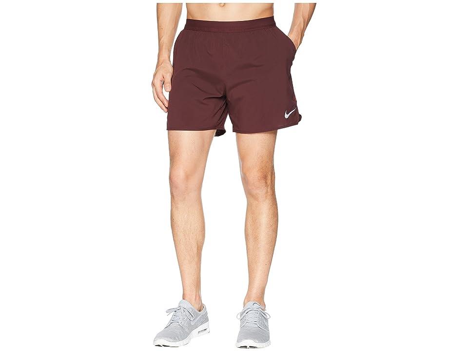 Nike Flex Stride 5 Running Short (Burgundy Crush/Rush Coral) Men