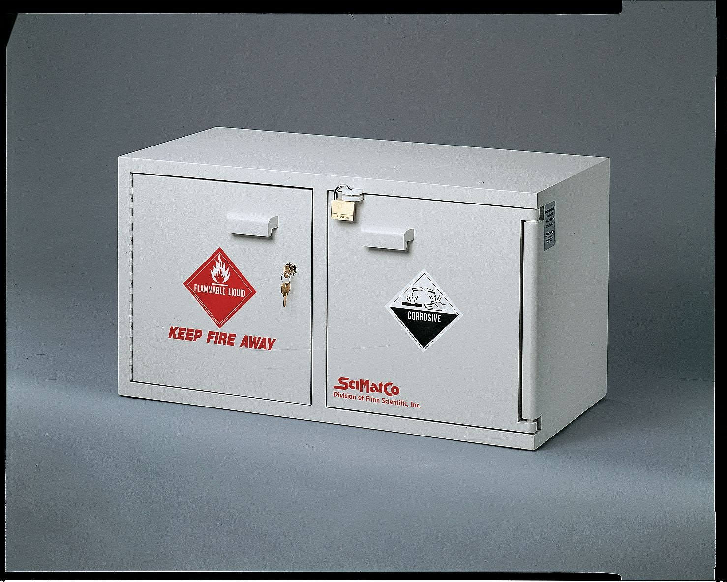 SCIENTIFIC Bargain MATERIALS SC9043 Gray Flammables Beauty products Acid Mini Stak-A-Cab