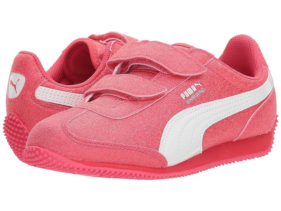 Puma Kids Whirlwind Glitz V (Little Kid) (Paradise Pink/Puma White) Girls Shoes