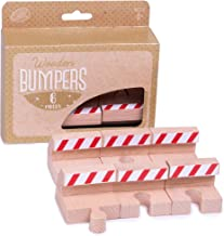 Wooden Train Track Bumpers (6 Pieces) | Create Stops in Railways for Construction, End of Tracks, Or Other Emergencies | Encourages Creative and Imaginative Play with Trainsets