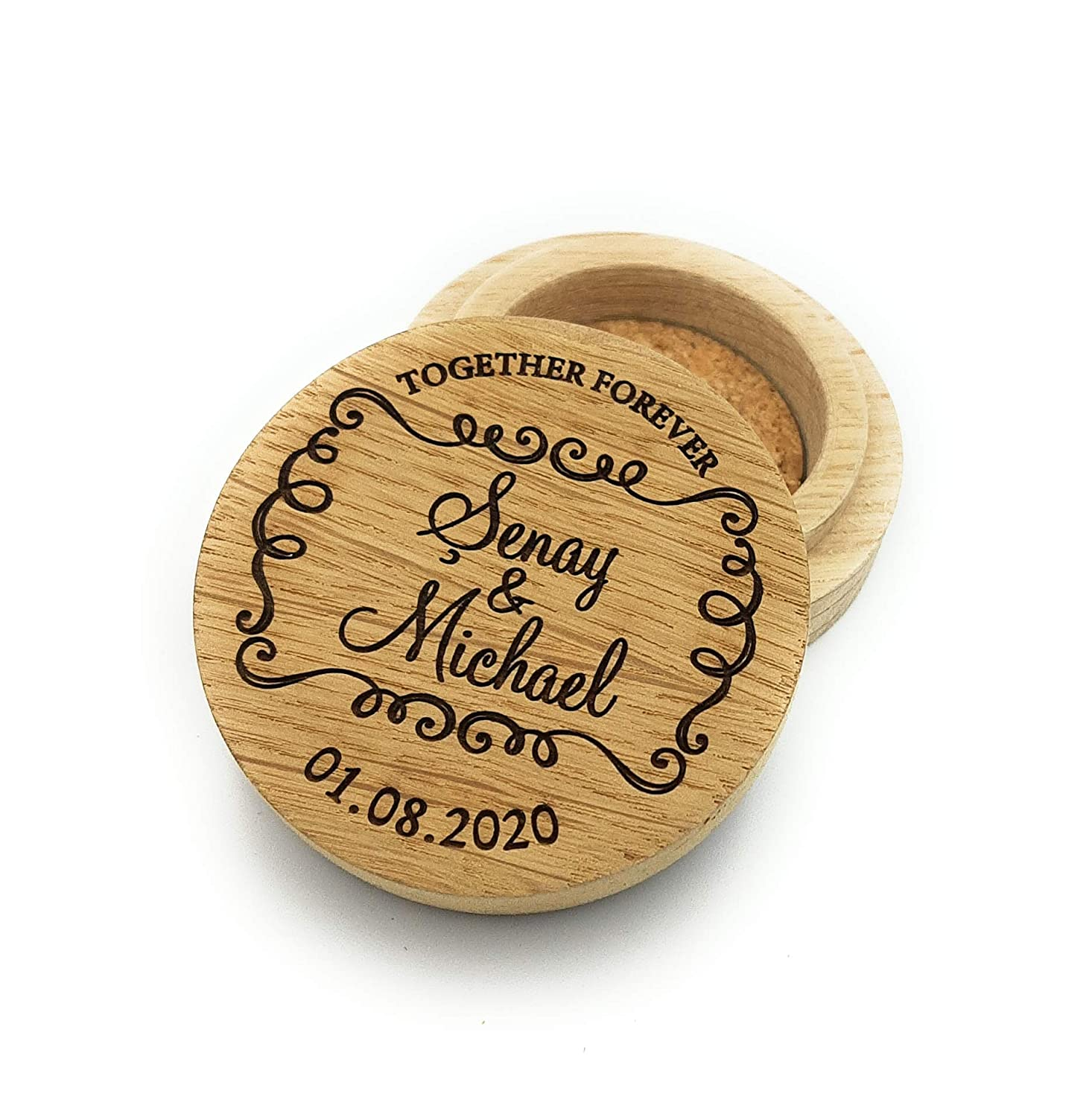 Ring 4 years warranty box wedding ring b wooden personalized online shopping