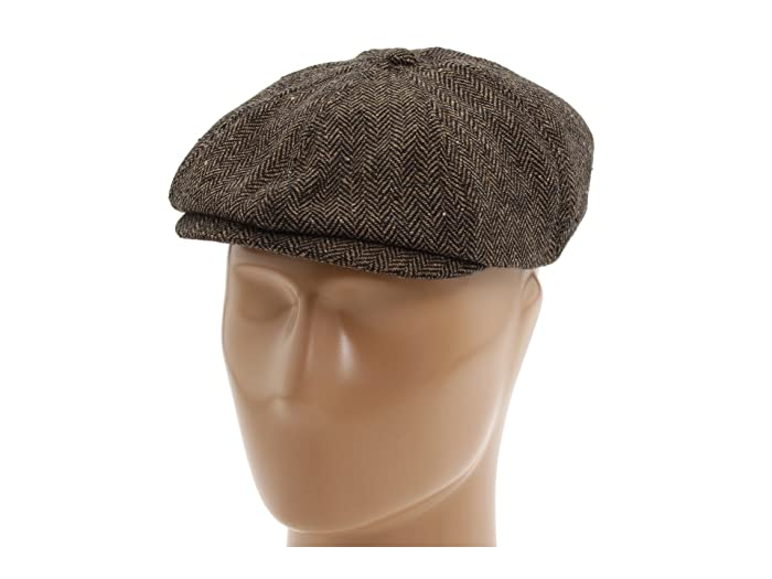 1940s Mens Hats | Fedora, Homburg, Pork Pie Hats Brixton Brood Snap Cap BrownKhaki Caps $45.00 AT vintagedancer.com