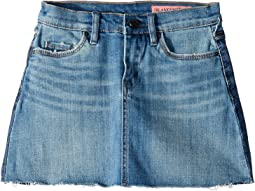 Two-Tone Denim Wash Mini Skirt in Two Faced (Big Kids)