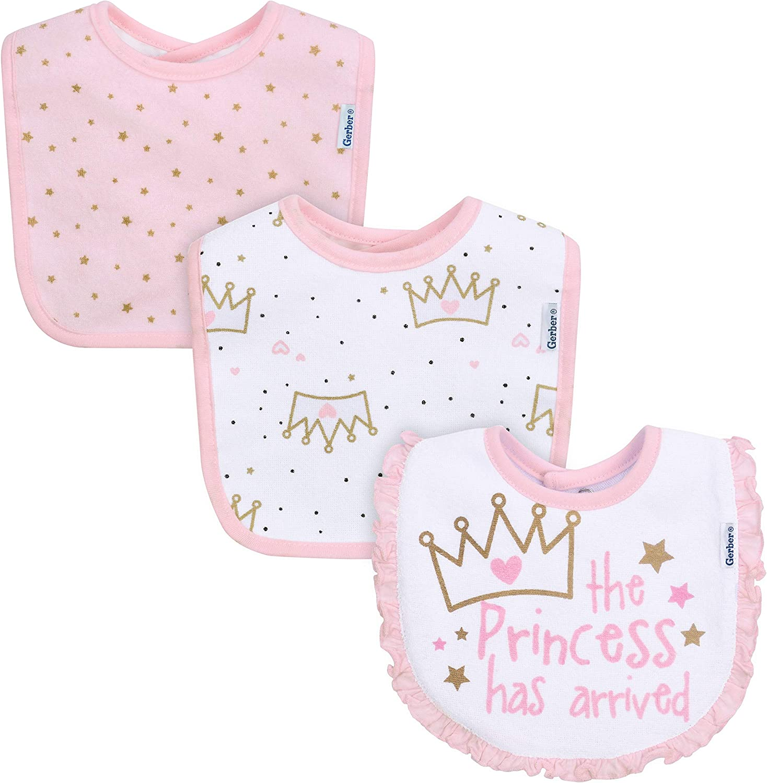 Gerber Quantity limited baby-girls 3-pack Popular brand Bib Dribbler