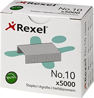 Rexel No. 10 4.5mm Staples 12 Sheet Capacity (Pack of 5000)
