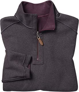 Johnston & Murphy Men's Reversible Solid Quarter-Zip