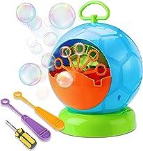 Fansteck Portátil Máquina de Burbujas, Soplador de Pompas de Jabón Duradero, Divertida Forma de Fútbol pomperos para Niños y Adultos, Fácil de Usar para Navidad, Fiestas, Barbacoa, Boda, etc.