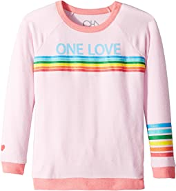 Chaser Kids - Love Knit Raglan One Love Pullover (Little Kids/Big Kids)