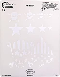 Artool Freehand Airbrush Templates, Patriotica White