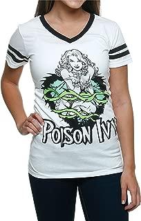 Batman Poison Ivy White V Neck Juniors T-Shirt