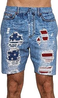 Under Disguise Men's American Flag Sleep Short Patriotic USA Pajama