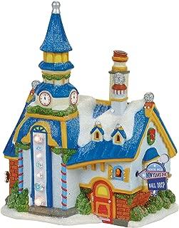 Department 56 North Pole New Year's Eve Center Village Lit Building, Multicolor