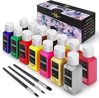 Magicfly 14 Couleurs Peinture Textile Permanente (60 ML/Bouteilles) pour Tissu, Projets DIY pour Vêtement, T-Shirt, Jeans,...