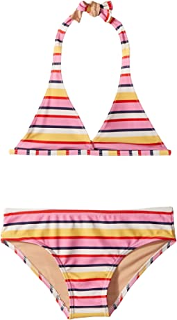 Toobydoo Sunshine Stripe Bikini (Infant/Toddler/Little Kids/Big Kids)