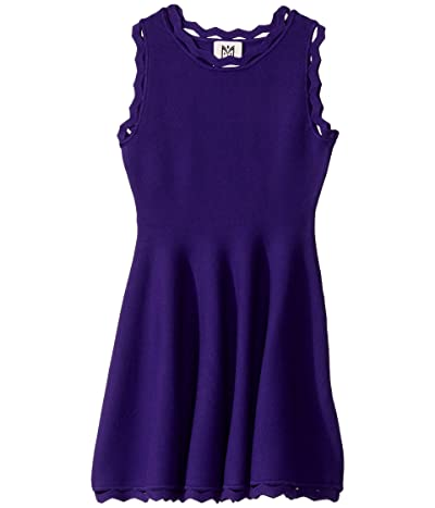 Milly Minis Zigzag Trim Flare Dress (Big Kids) (Royal Purple) Girl