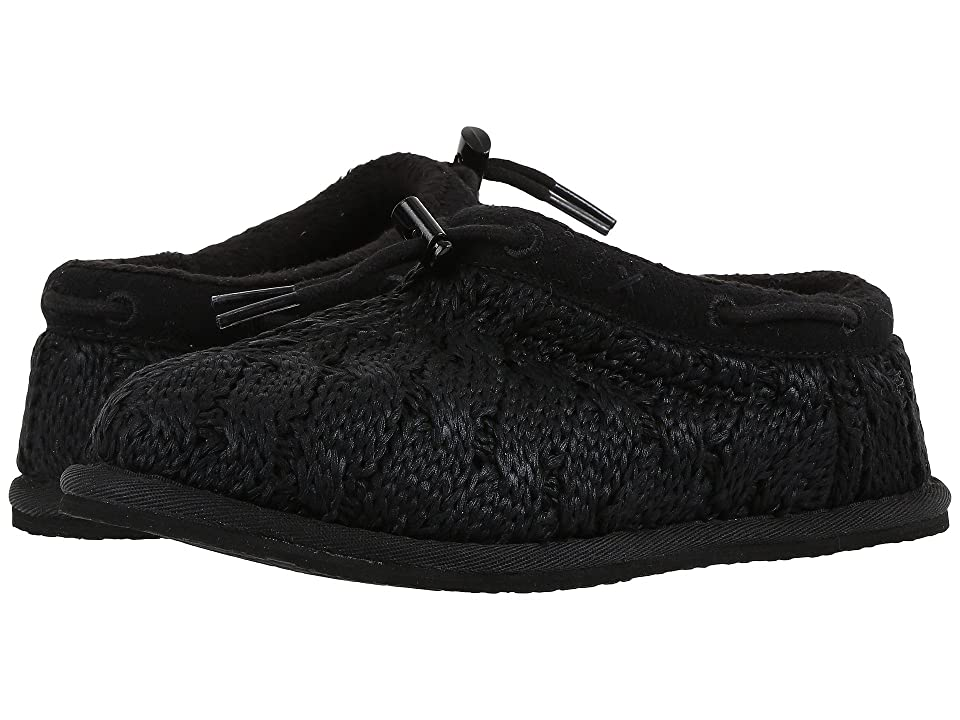 UGG Kids Freesia Cable Knit (Little Kid/Big Kid) (Black) Girls Shoes