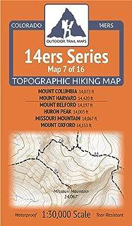 Colorado 14ers Maps Series 7 of 16 - Columbia, Harvard |...