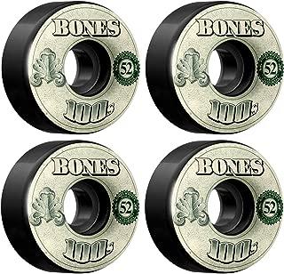 Bones Wheels 100s Wheels 52mm (set of 4) Black
