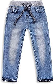 Sponsored Ad - LITTLE-GUEST Boys Drawstring Toddler Elastic Waist Jeans B117