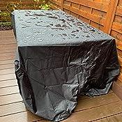 SanGlory Housse de Protection /étanche pour s/èche-Linge Rotatif en Tissu Oxford r/ésistant /à la d/échirure avec rev/êtement de Protection Solaire Noir 180 x 16 x 16 cm
