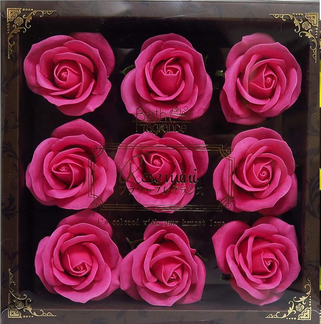 アイスクリームショートフォーラムバスフレグランス バスフラワー ミニローズフレグランス(L)ローズピンク お花の形の入浴剤