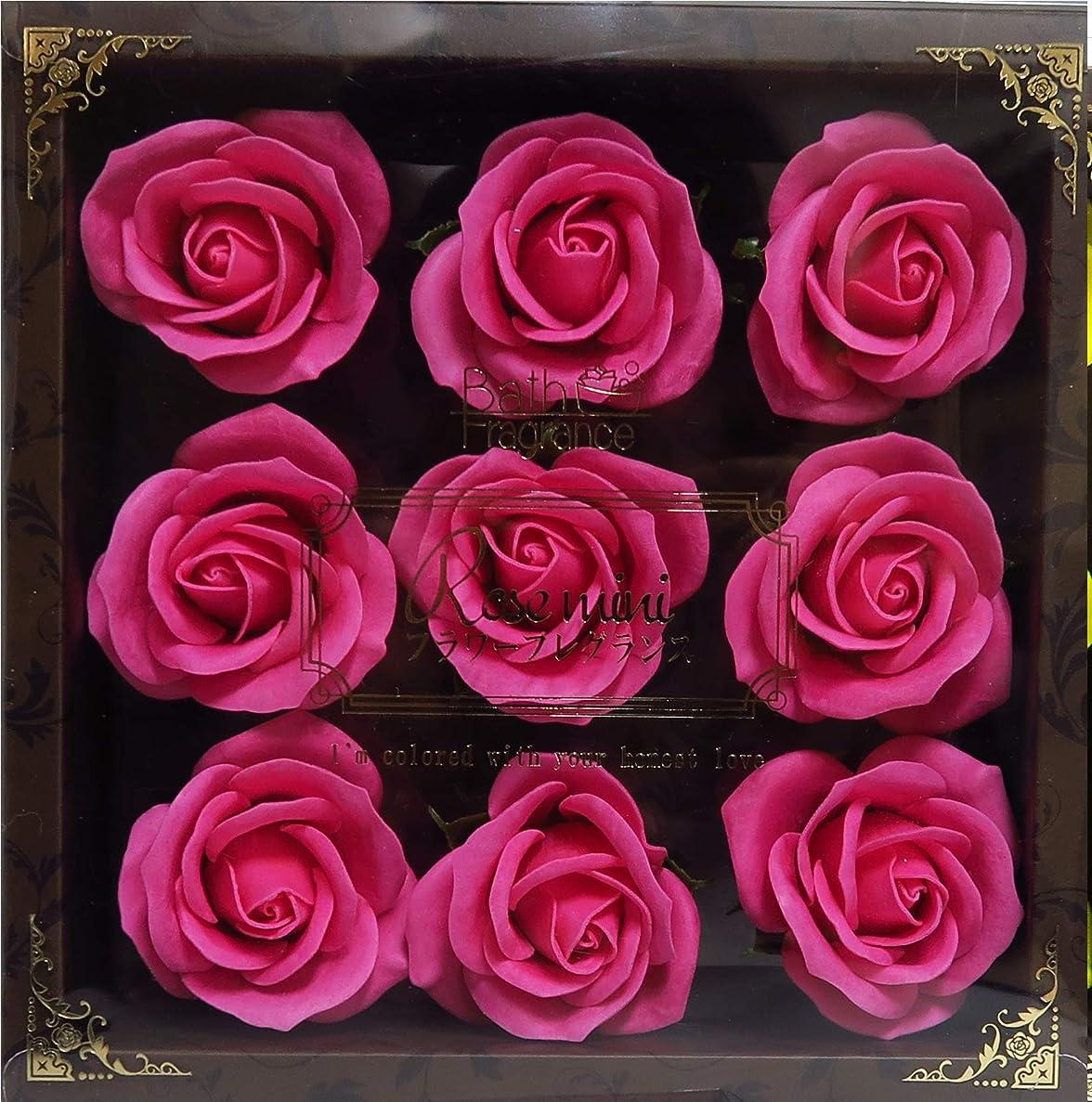 かんたん俳句負バスフレグランス バスフラワー ミニローズフレグランス(L)ローズピンク お花の形の入浴剤