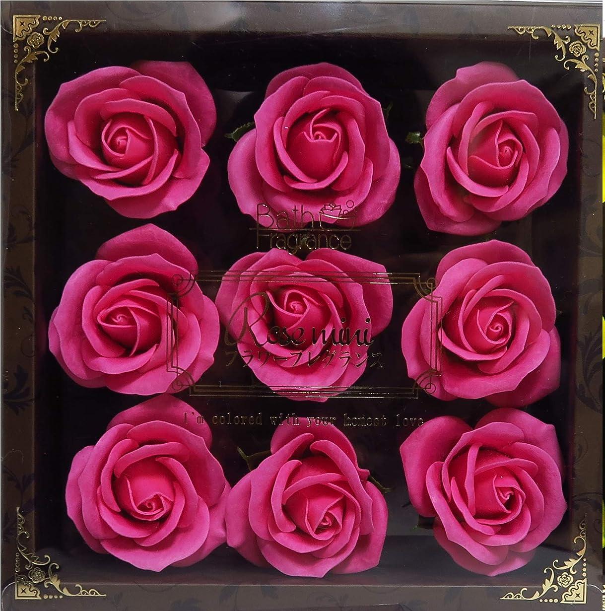 先住民実証する減衰バスフレグランス バスフラワー ミニローズフレグランス(L)ローズピンク お花の形の入浴剤