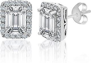 Best emerald cut halo earrings Reviews