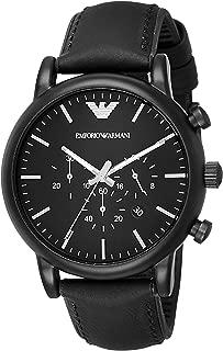 Emporio Armani Watch For Men, Leather, Chronograph, Ar1970, Analog Display