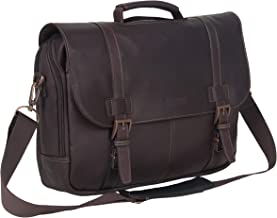 kenneth cole colombian leather flapover laptop bag