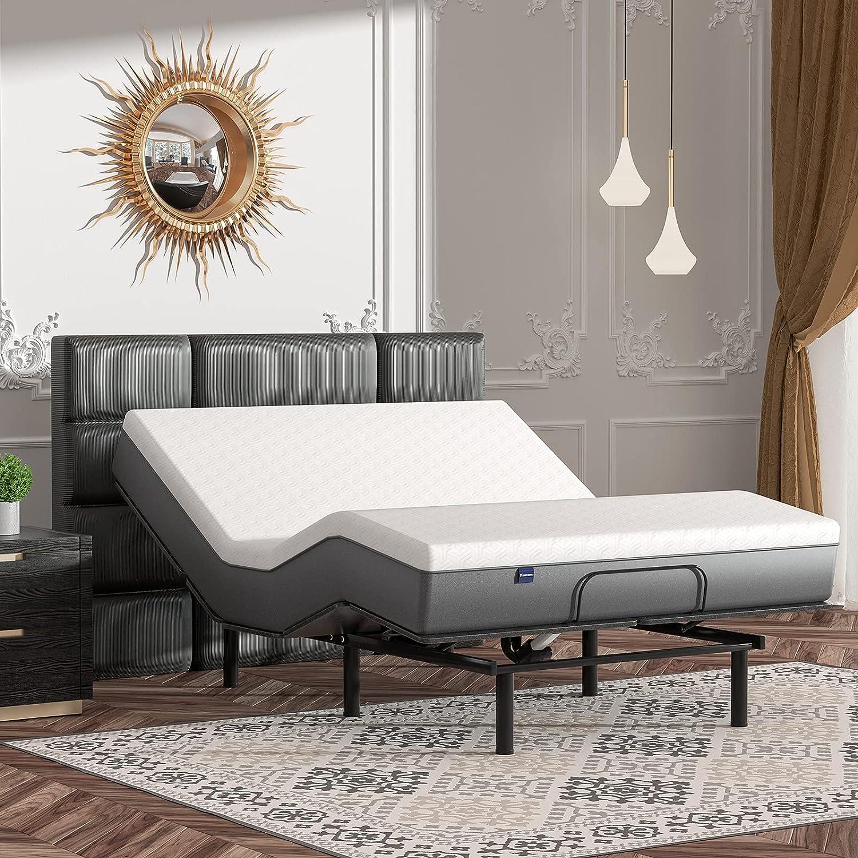 Cozy Castle Adjustable Bed Base, Adjustable Bed with Preset Posi