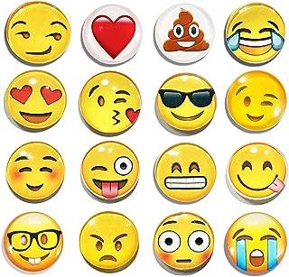 Keklle  17 2018/7/9 11:08:39 16 Pack Refrigerator Magnets, Emoji Magnets Fridge Magnets 3D Funny Cute for School Lockers Accessories Set