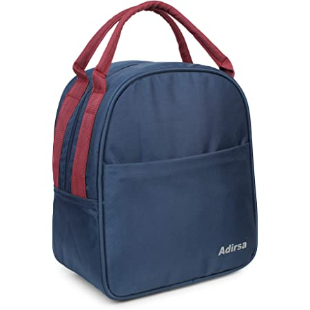 ADIRSA LB3013 Navy Blue Lunch Bag/Tiffin Bag for Men, Women, School, Picnic,Work Carry Bag for Lunch Boxes