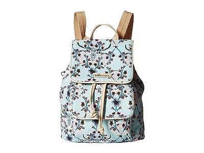 Sakroots Artist Circle Mini Flap Backpack (Light Blue Mojave Canyon) Backpack Bags
