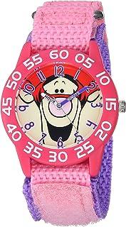 ساعة يد للبنات من ديزني - كوارتز مع سوار من النايلون، زهري، 18.1 موديل WDS000616