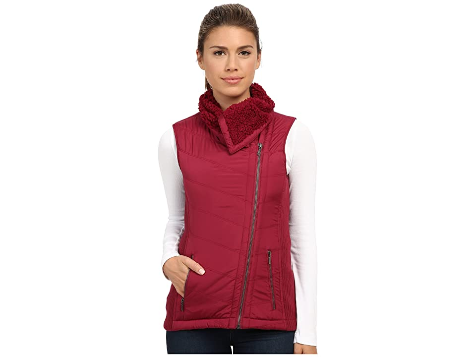 Prana Diva Chevron Quilt Vest (Plum Red) Women