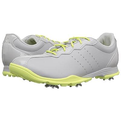 adidas Golf Adipure DC (Grey One/Silver Metallic/Semi Frozen Yellow) Women