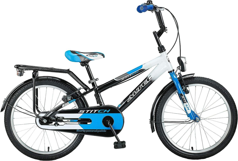 Altec 20  20 Zoll Kinder Kinderfahrrad City Jungen Fahrrad Bike Rad Kinderfahrrad Citybike Cityfahrrad Rücktrittbremse Stitch SCHWARZ BLAU