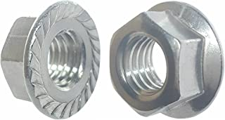 SNUG Fasteners (SNG270) Fifty (50) 5/16-18 Zinc Plated Serrated Flange Hex Lock Nuts