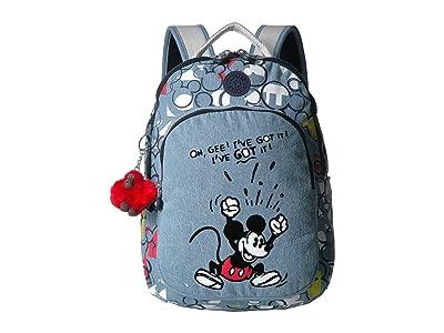 Kipling Disney Mickey Mouse Seoul S Backpack (Three Cheers) Backpack Bags