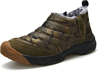 Men's Winter Snow Boots Fur Lined Antiskid Cold Weather Shoes