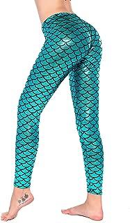 Women Sexy Mermaid Fish Scale Hologram Stretch Soft Shine Leggings