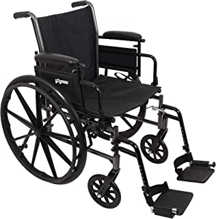 ProBasics Lightweight Wheelchair for Adults - Flip Back Height Adjustable Desk Arms with Swing-Away Foot Rest - 18