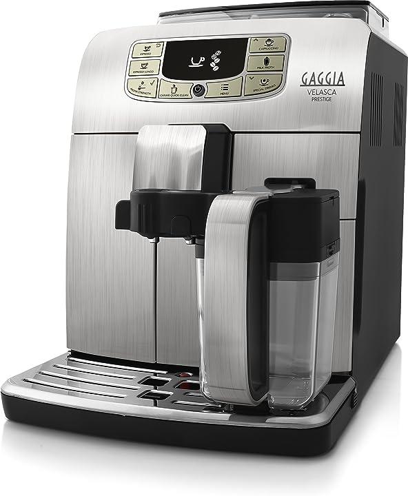 Macchina da caffè gaggia velasca prestige automatica per espresso e cappuccino RI8263/01