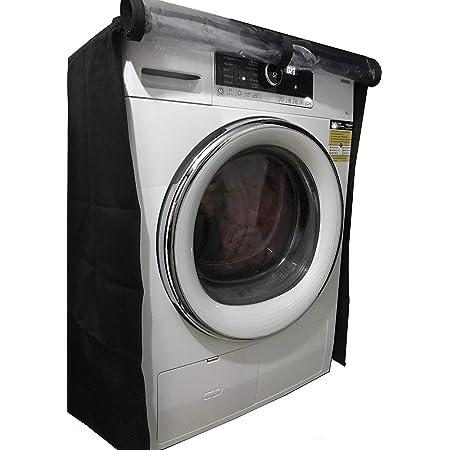 KHOMO GEAR Housse pour Lave-linge et Sèche-linge à Chargement Frontal, Machine à Laver Hublot – Plastique Imperméable et Protection Contre la Poussière – Taille Universelle – Noir et Transparent