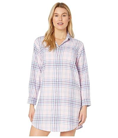 LAUREN Ralph Lauren Classic Woven Long Sleeve His Shirt Sleepshirt (Multi Plaid) Women