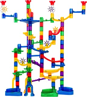 Marble Genius Marble Run Super Set - 150 Complete Pieces + Free Instruction App & Full Color Instruction Manual